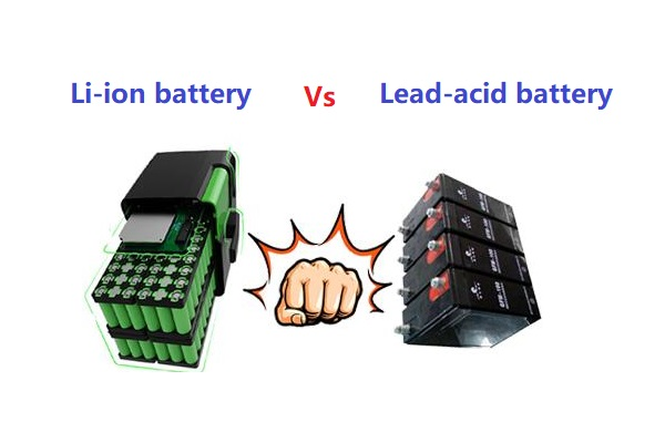 difference between a lithium ion battery and a lead-acid battery