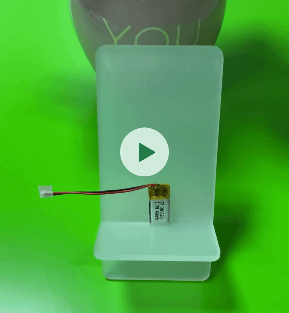 40mAh Small Lipo Battery for Bluetooth Headphone