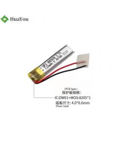 Cell Factory Hot Selling Lithium Polymer Battery for Electric Toothbrush HY 480838 3.7V 110mAh Lipo Battery