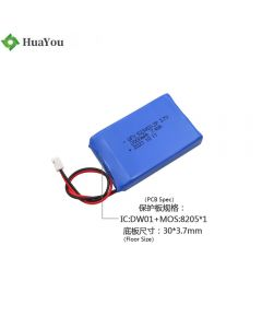 Chinese Li-po Battery Factory Supply Battery Pack for Car Equipment HY 523450-2P 3.7V 2000mAh Lithium-ion Polymer Battery