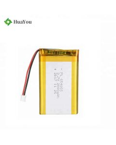 Custom UL Certification Battery for GPS Devices HY 654065 3.7V 2000mAh Lipo Battery with KC Certificate