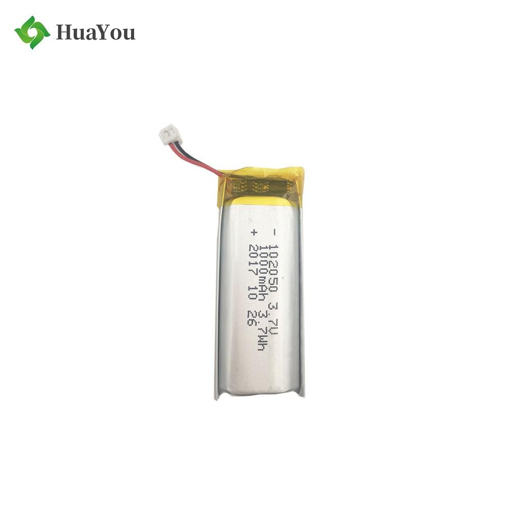 102050 1000mAh 3.7V Rechargeable Li-Polymer Battery