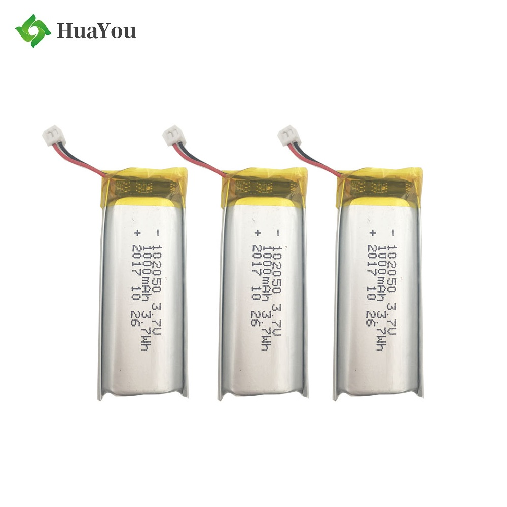 1000mAh 3.7V Rechargeable Li-Polymer Battery