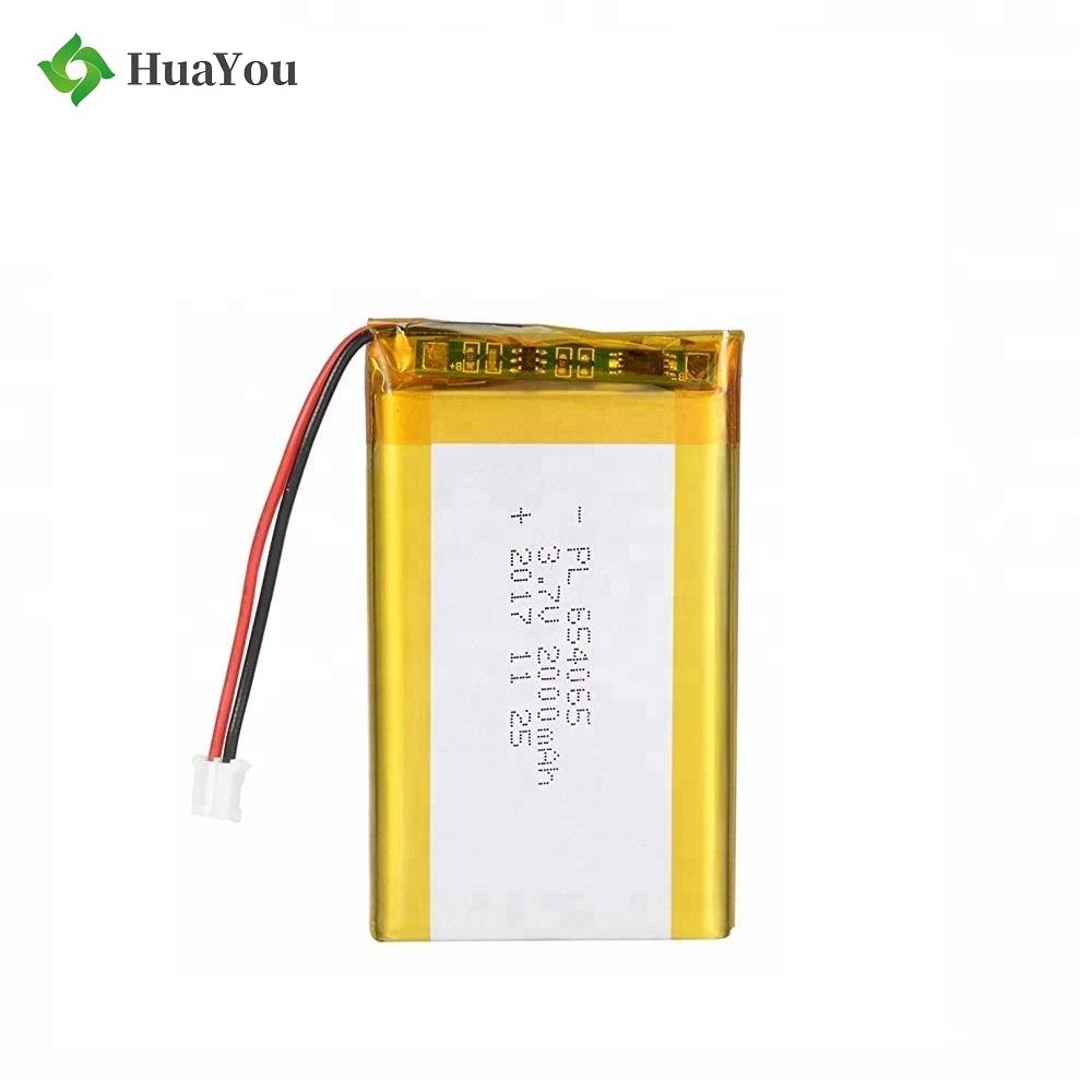 654065 2000mAh UL Certification Battery